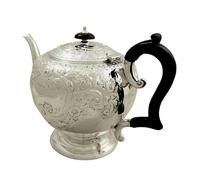 Antique Victorian Sterling Silver Teapot 1896 (4 of 10)