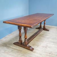 Refectory Table and 8 Ladderback Chairs (4 of 11)