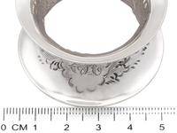 Sterling Silver Napkin Rings Set of Six - Antique Victorian 1897 (9 of 12)