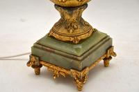 Large Antique  Gilt Metal Flagon Lamp (6 of 10)
