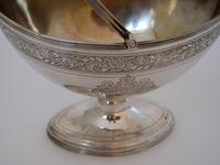 George III Oval Silver Sugar Basket with a Reeded Swing Handle (6 of 7)