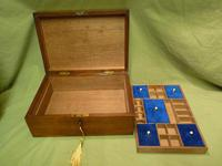 Solid Figured Oak Jewellery / Work Box - Fitted Tray (9 of 10)