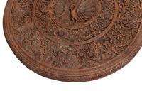 Burmese Side Table Antique Carved Burma Furniture (4 of 11)