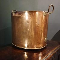 Antique Copper Coal Bucket of Oval Form with Handles (4 of 7)