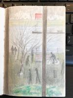 Original Sketchbook of Pencil Drawings, Pen Drawings and Watercolours by Helmut Petzsch - 1987-1989 (3 of 19)