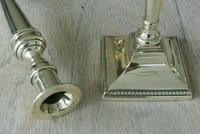 Pair of Quality 18th Century Style Brass Candlestick Pearson Page c.1910 (2 of 7)