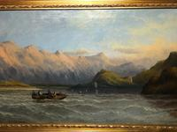Antique Victorian Oil Painting Scottish Highlands Loch Lomond F W Bartholomew (22 of 28)