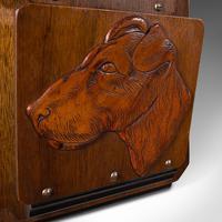 Antique Decorative Dog Letter Rack, English, Mahogany, Oak, Wall, Edwardian (7 of 8)