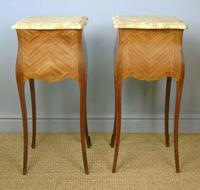 Antique Pair of French Bedside Cabinets Marble Top (4 of 6)