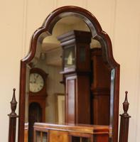 Queen Anne Style Mahogany Cheval Mirror (7 of 10)