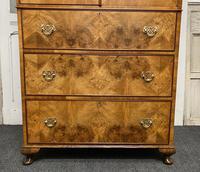 Burr Walnut Linen Press or Wardrobe (3 of 9)