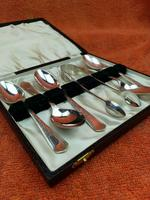 Antique Sterling Silver Hallmarked Cased 5 Spoons & Sugar Tongs 1906 Sheffield W S Savage & Co (2 of 12)