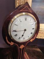 Antique Art Nouveau Inlaid Mantel Clock (2 of 7)