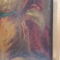 19th Century Oil on Canvas Double Sided Shepard. Jesus & Mary Magdalene (13 of 13)