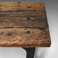Antique Foundry Table, English, Pine, Iron, Heavy, Industrial Taste, Victorian (10 of 12)