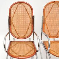 1970's Pair of Retro  Chrome & Bamboo Rocking Chairs (5 of 13)