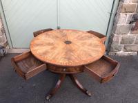 Antique Mahogany Drum Table (7 of 9)