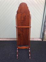 Antique Mahogany Cheval Dressing Mirror (5 of 9)