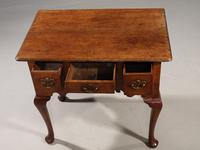 Very Attractive Mid 18th Century Oak 2-Drawer Lowboy (5 of 6)