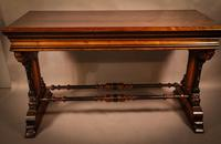 Very Impressive Victorian Gothic Serving Table Pitch Pine