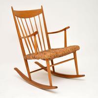 1950's Danish Vintage Rocking Chair