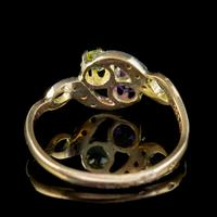 Antique French Suffragette Twist Ring 18ct Gold Amethyst Diamond Peridot Circa 1915 (5 of 7)