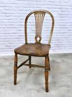 Set of 4 Windsor Kitchen Chairs with Unusual Back-rest Style (6 of 7)
