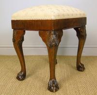 Good Quality Late Victorian Mahogany Stool (4 of 6)