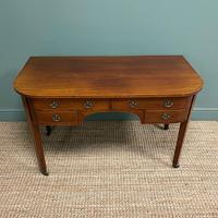 Stunning Victorian Mahogany Bow Fronted Antique Writing Table (4 of 7)