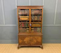 Burr Walnut Bookcase by Jas Shoolbred (8 of 19)