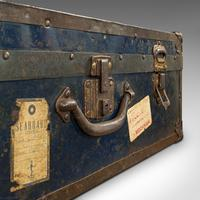 Antique Steamer Trunk, English, Travel, Voyage, Chest, Edwardian c.1910 (10 of 12)