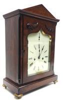 Unusual & Rare Mahogany Bracket Clock Taj Mahal Bezel & Dial Mantel Clock (8 of 10)