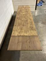 Nice Large Bleached Oak Farmhouse Dining Table With Extensions (29 of 35)