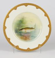 Royal Worcester Hand Painted Cabinet Plate with A Pike by George B Johnson Dated 1921 (8 of 14)