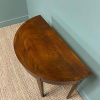 Stunning Demi Lune Mahogany Antique Card / Games Table (2 of 7)