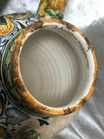 Pair of Fine 20th Century Italian Pottery Sea Horse Romantic Lovers Wine Pitcher Ewer Vases (3 of 12)