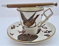 Powell, Bishop & Stonier Aesthetic period coffee cup and saucer, 1880 (6 of 8)
