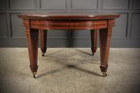 Large Inlaid Mahogany Extending Dining Table (15 of 20)
