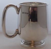 1933 Hallmarked Solid Silver 1/2 Half Pint Tankard Christening Mug E Viner (6 of 8)