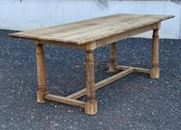 Rustic Bleached Oak Farmhouse Dining Table (14 of 25)