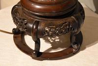 Tibetan Champlevé / Enamel & Bronze Lamp (4 of 5)