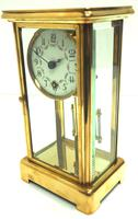 Fine Antique French Table Regulator with Visible Pendulum 8 Day 4 Glass Mantel Clock (4 of 10)