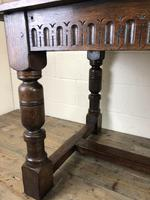 Early 20th Century Antique Oak Refectory Table (10 of 16)