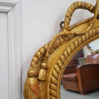 Beautiful Gilded English Rope Design Overmantle Mirror c.1870 (5 of 9)