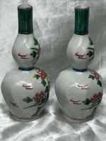Pair of Fine Antique 19th Century Japanese Meiji Double Gourd Porcelain Vases (12 of 12)