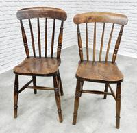 8 x 19th Century Windsor Kitchen Chairs (3 of 9)
