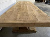 Enormous French Bleached Oak Farmhouse Dining Table (11 of 38)