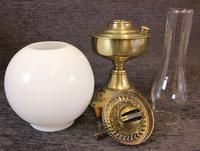 Brass Oil Lamp Opal White Shade (6 of 6)