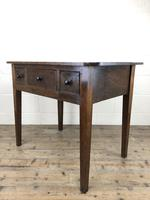 Antique 19th Century Oak Side Table (13 of 14)