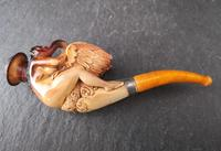 Rare antique meerschaum pipe, Leda and the Swan (10 of 14)